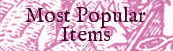 Most popular items and services